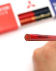 Uni Mitsubishi Vermilion and Prussian Blue Pencil - 5-5 3